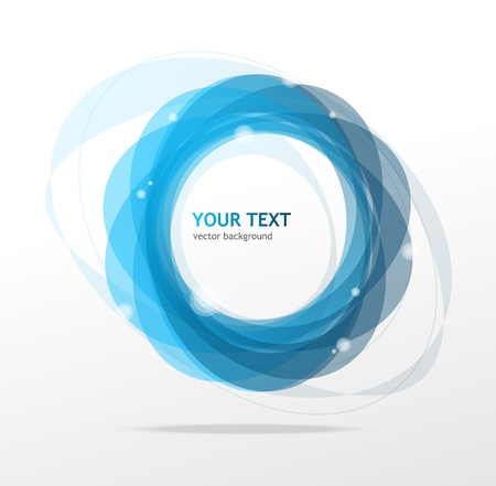 blue circles: Abstraction blue background and text