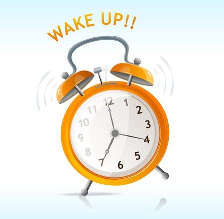 beat the clock: vector wake up message clock Illustration