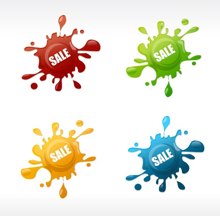 Vector colored blots sale set