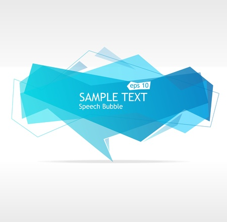 Vector blue speech template for text