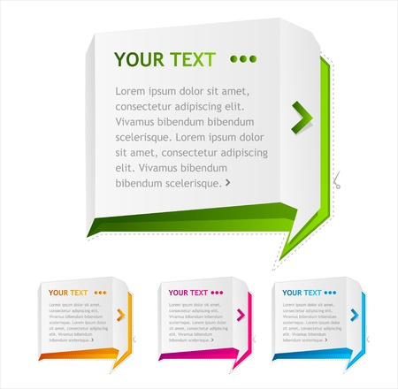 Vector speech templates for text on white