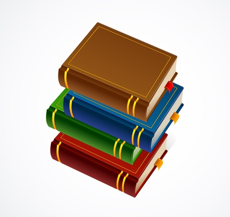 bookbinding: Books stack icon