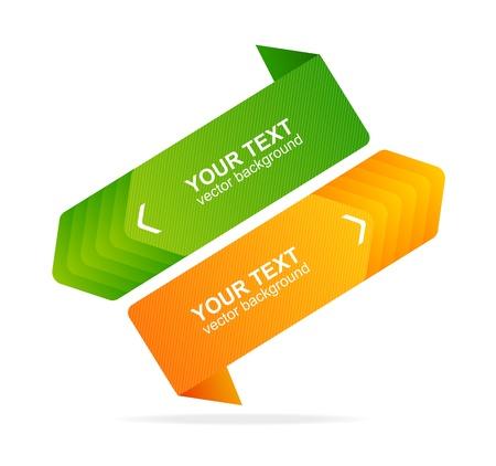 message box: Vector speech templates for text orange, green