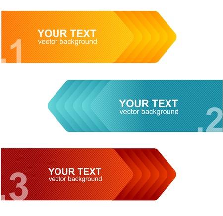 Vector speech templates for text orange, blue