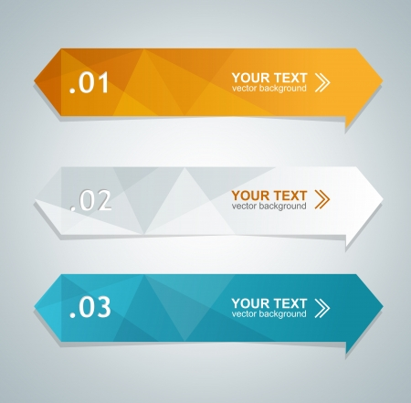 Vector colorful text box, trendy colors Illustration
