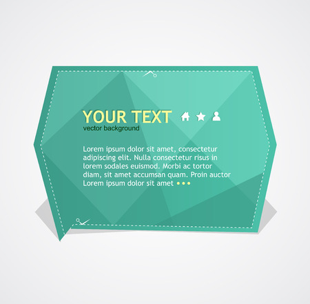Vector text box Illustration