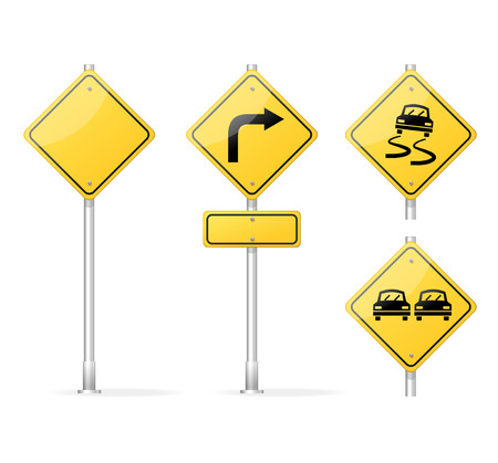 information highway: Vector Blank Traffic Sign isolated on white