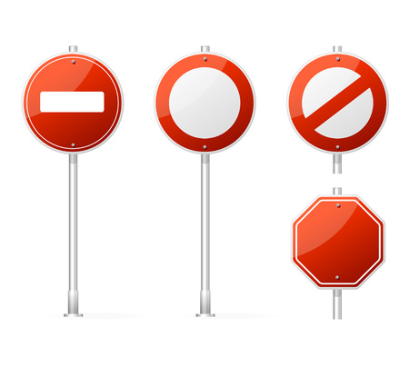 Vector Blank Traffic Sign isolated on white Stock Vector - 22957688