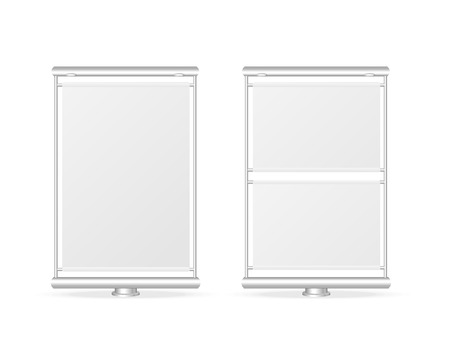 Vector white billboard screen template, isolated on white Stock Vector - 22957697