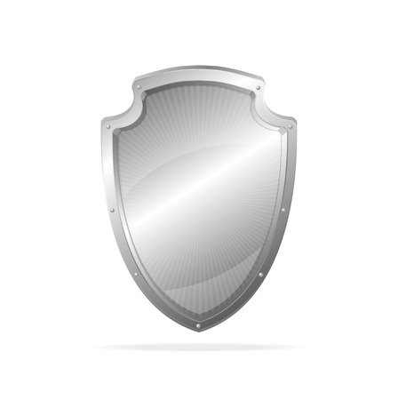 metal shield: Vector Empty metal shield Illustration