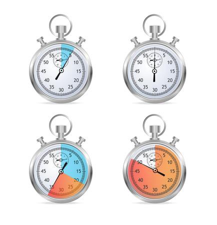 illustraion: Stopwatch set vector illustraion Illustration