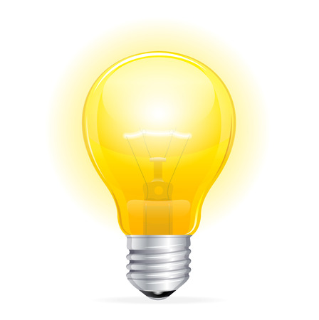 Vector Light bulb isolated on white Vector
