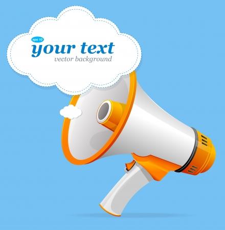 news paper: Vector megaphone speech templates for text