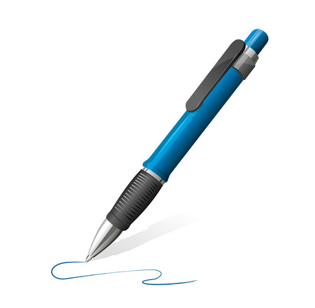 blue pen: Vector illustration of blue pen Illustration