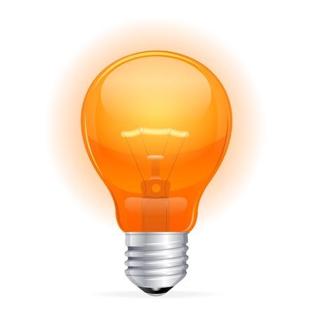 Vector red light bulb isolated on white Stock Vector - 23474575