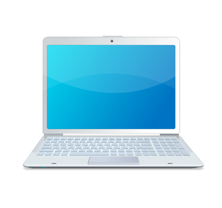 laptop isolated white Vector