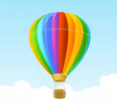 rainbow air ballon background Illustration