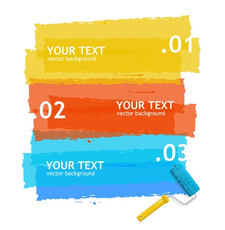 space text: White background 1,2,3 concept