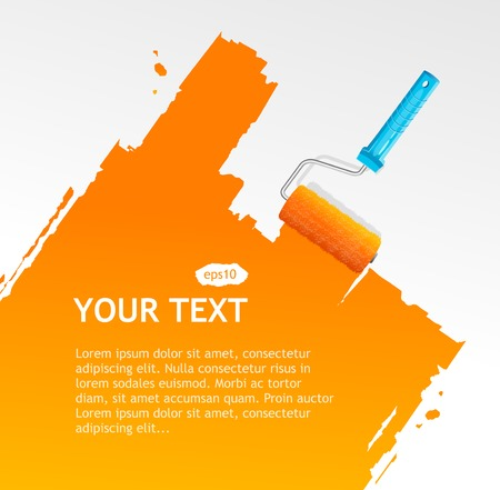 roller brush: Background for text