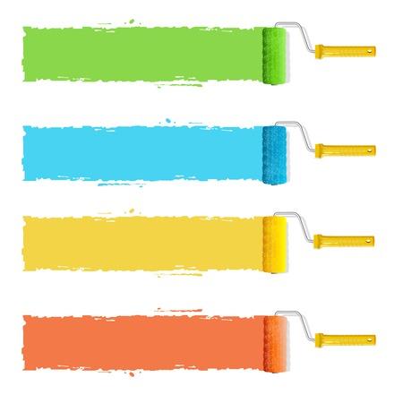 roller brush: roller brushes headers Illustration