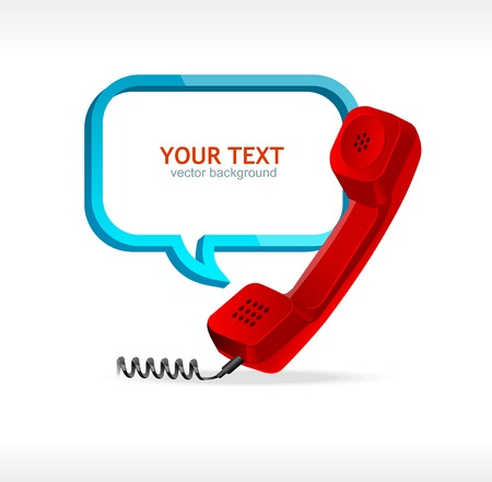 phone and text banner Vector
