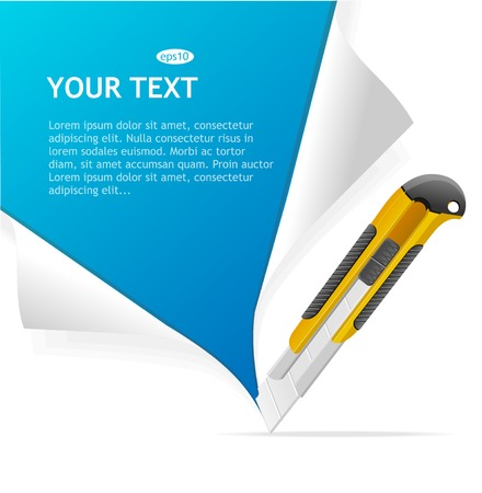 box cutter: Template for text Illustration