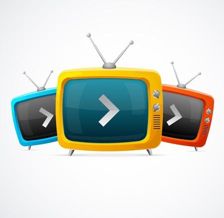 old tv: Tv vector set