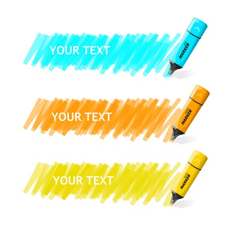 text marker: Vector markers text box