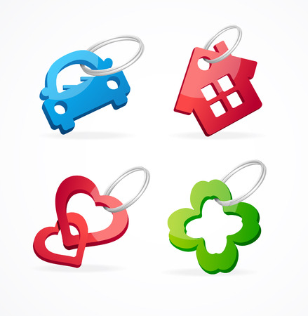 Key chain collection Vector