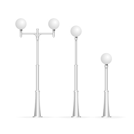 streetlamp: Street lamp isolated on white, electricity Illustration