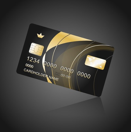 VIP Card black and gold Illustration