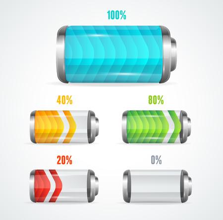 capacitance: Vector illustration of Battery full level indicator Illustration