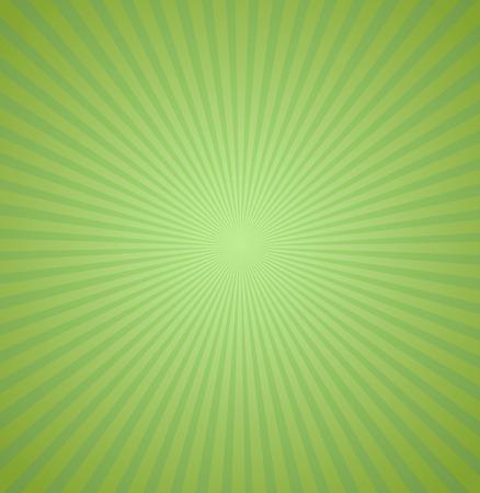 verde: Rayos verdes de fondo. Burst ilustración vectorial