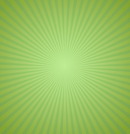 Green rays background. Burst Vector illustration