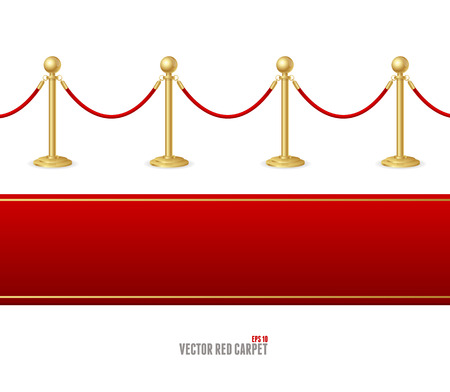 Vector red event carpet and Barrier rope Vector