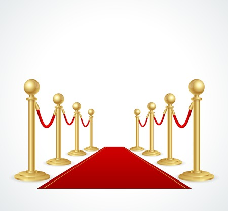 red carpet event: red event carpet isolated on white Illustration