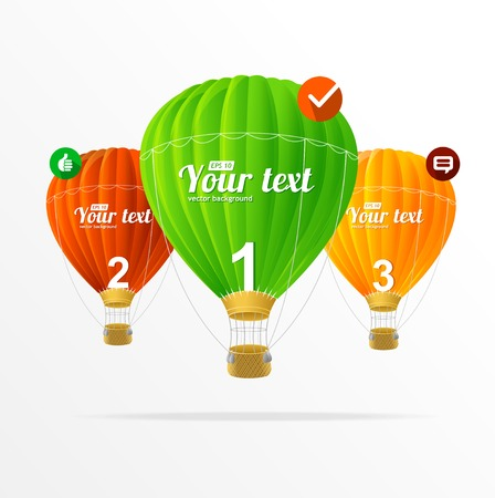 text boxes, modern infographics Vector