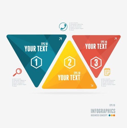 colorful text boxes, infographics options banner Vector