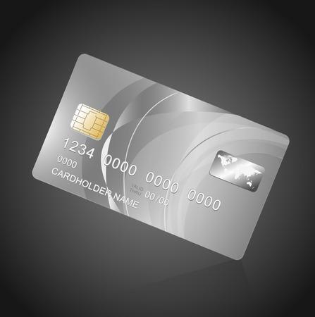 Carte VIP argent sur le noir. modèle de Vector