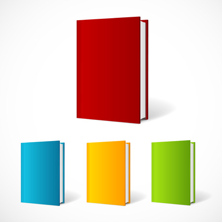Vector book cover set perspective . Vertical Template. Vector