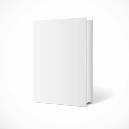 paperback: Vector blank book cover perspective. Vertical Template. White Background.