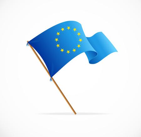 union flag: European union flag vector on white background