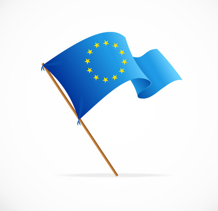 european union currency: European union flag vector on white background