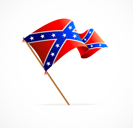 Vector flag of Confederate on white background Illustration