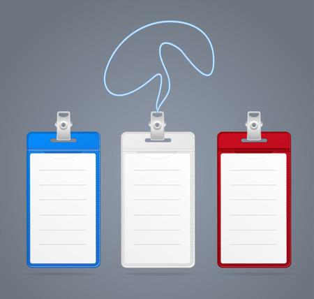 cardholder: Blank ID (identification card ) Badge colour set