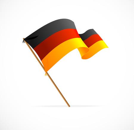 Vector Vlag van Duitsland op wit wordt geïsoleerd