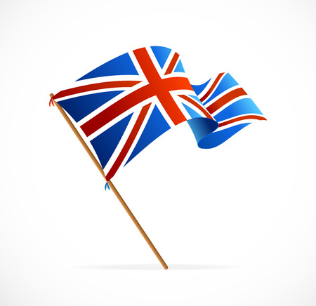 Vector Bandeira do Reino Unido isolado no branco Ilustração