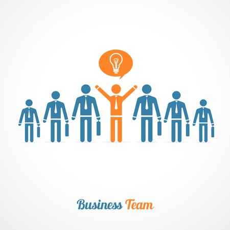 procurement: Vector human symbol teamwork silhouettes . Idea concept
