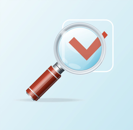 scrutiny: Vector magnifying glass icon