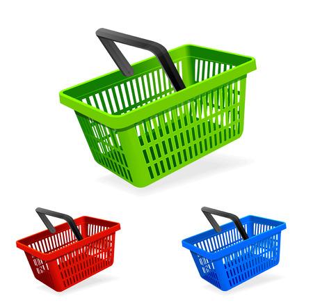 empty basket: Vector shopping basket